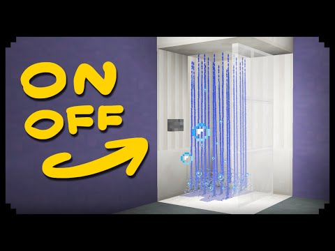 ✔ Minecraft: How To Make A Working Shower