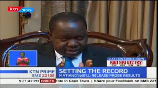 Interior CS Fred Matiang'i addresses parents of children murdered through police brutality