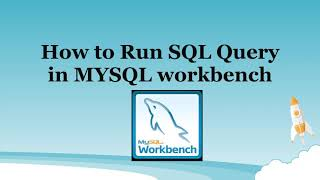 how to execute sql query in mysql workbench.