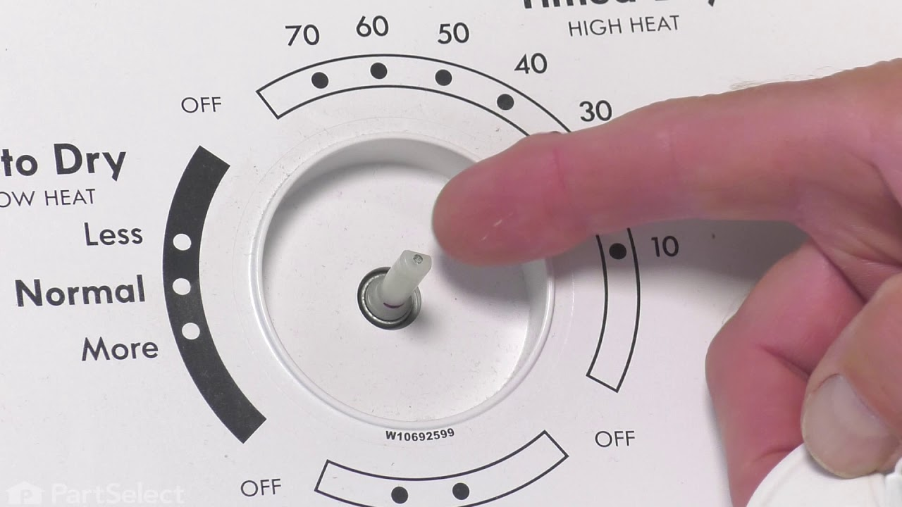 Replacing your Amana Washer Control Knob