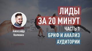 Лиды за 20 минут: бриф и портрет целевой аудитории. Часть 1. Александр Конченко