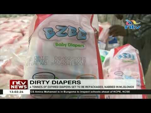 4 tonnes of expired diapers worth millions nabbed in Mlolongo