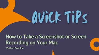 Quick Tips on Taking a Screenshot or Screen Recording on Your Mac
