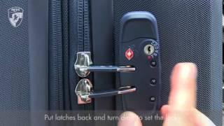 Heys Luggage Factory Heys TSA Lock Setup