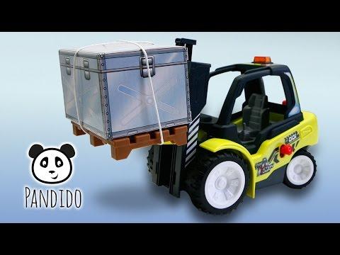 ⭕ Dickie Gabelstapler Air Pump Action Fork Lift - Spielzeug ausgepackt und angespielt - Pandido TV