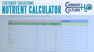 Using Cultured Solutions Nutrient Calculator