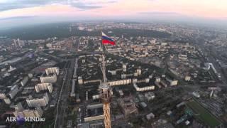 Флаг на Останкинской телебашне, уникальные съемки