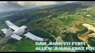 Microsoft Flight Simulator (SAN JUAN PUERTO RICO TO JUANA DIAZ)