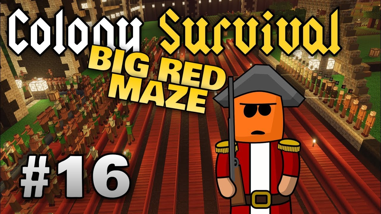 Colony Survival ep16 | Maze Size and Pathing
