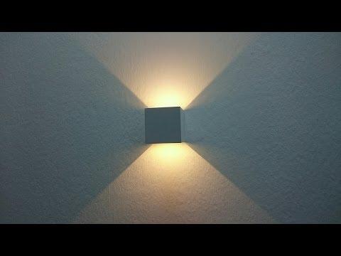 LED Wandleuchte Wandlampe 7W 2700K warmweiß IP65 GHB Abstrahlwinkel einstellbar