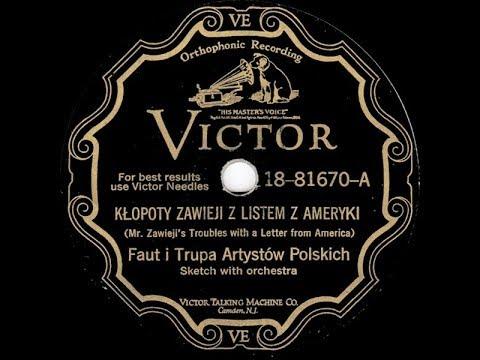 Polish 78rpm recordings, 1932. VICTOR 81670, 18-81670. Kłopoty Zawieja z listem z Ameryki