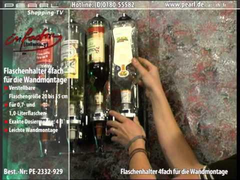infactory Flaschenhalter und Dosierer, 4-fach, für Wandmontage