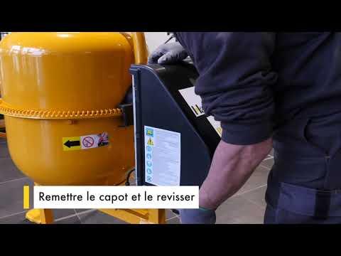 0:21 / 2:03 TUTO : comment remplacer le condensateur à cosses sur votre bétonnière Haemmerlin ?