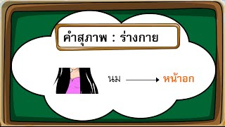 สื่อการเรียนการสอน คำสุภาพ ป.3 ภาษาไทย