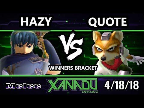 S@X 246 SSBM - Hazy (Marth) Vs. Quote (Fox) - Smash Melee Winners Bracket