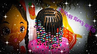Three Layers Of Braids & Beads | Childrens Natural Hair Care