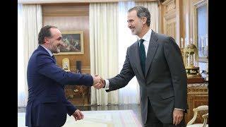 Su Majestad el Rey recibe a Don Javier Esparza Abaurrea, de Unión del Pueblo Navarro