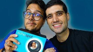 A Inteligencia Artificial que CONTROLA A SUA CASA - Unboxing Alexa Echo Spot