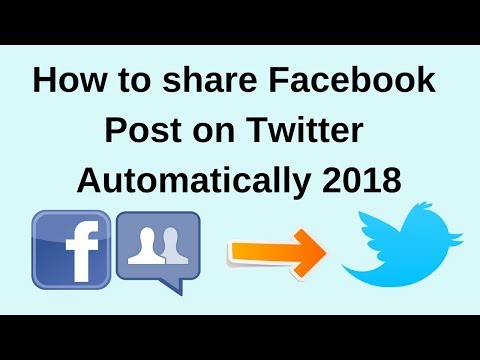 How to share facebook post on twitter automatically 2018