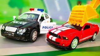 Мультфильмы про машинки. ЛЕГО город в опасности Автобус и Экскаватор в мультике – Опасные гонки