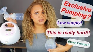 EXCLUSIVELY PUMPING / HOW I INCREASED MY SUPPLY / TIPS