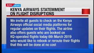 Kenya Airways' statement on flight disruptions
