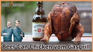 Beer Can Chicken - Bierdosenhähnchen vom Gasgrill