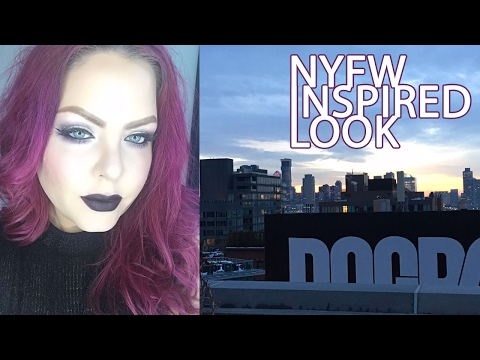 Purple Anna Sui eye look with Michael Costello x Inglot lips tutorial