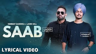 Saab (lyrical Video)  Himmat Sandhu