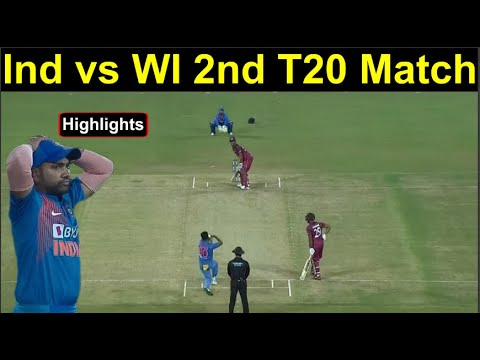 Ind vs WI 2nd T20 Match Highlights West Indies win by 8 wickets | Headlines Sports