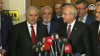 Başbakan Yıldırım, Kılıçdaroğlu görüşmesi sona erdi