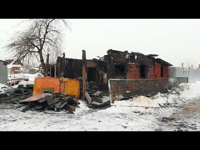 Дом сгорел вместе с жильцом