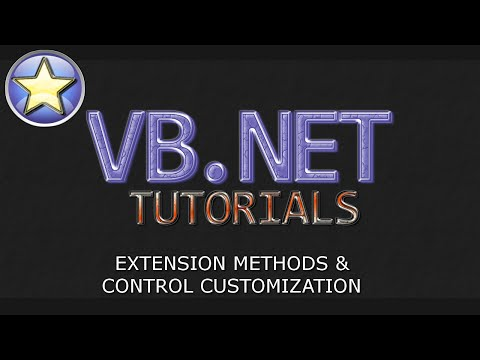 VB.NET Tutorial – Extension Methods / Custom Controls  (Visual Basic .NET)
