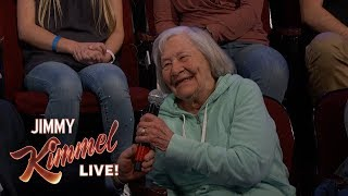 Behind the Scenes with Jimmy Kimmel & Audience (97-Year-Old Woman)