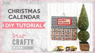 Holiday Calendar - easy sewing tutorial - christmas sewing