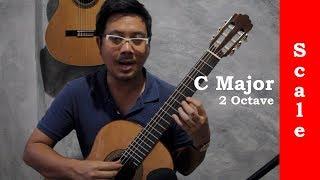 สเกล C major 2 Octave สำหรับกีตาร์คลาสสิค