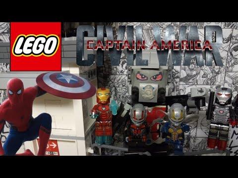 LEGO обзор минифигурок Captain America:Civil War. LEGO большая кастомная фигурка Человека муравья!