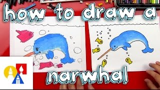 1114 how to draw a narwhal