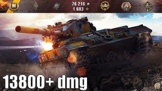13800+ dmg FV215b (183) максимальный урон 🌟🌟🌟 World of Tanks лучший бой.