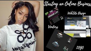 Starting An Online Business | Logo, Vendor & Website Design