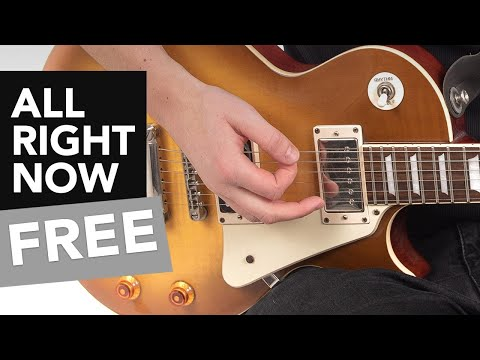 """""""All Right Now"""" Guitar Lesson - How to play Electric Rock Riffs"""