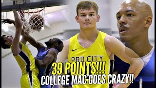College Mac McClung CRAZY 39 POINTS vs LaVar Ball!?? 😂😂 CRAZY DUNKS in 2nd Georgetown Game!