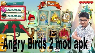 Download Angry Birds 2 mod apk without root. 100% real.