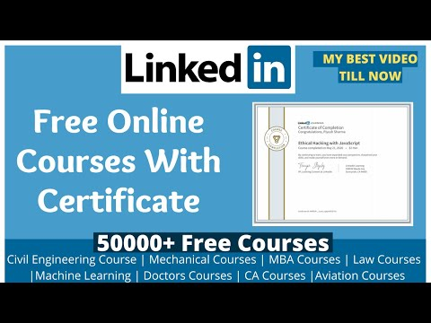 FREE LinkedIn Learning Courses With Certificate | Degree Courses ...