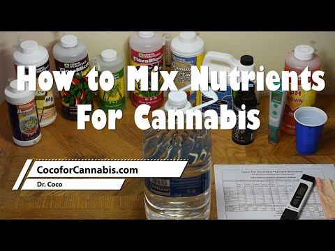 How to Mix Nutrients For Cannabis