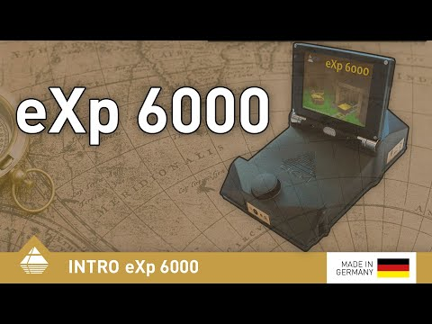 German metal detector eXp 6000 from OKM with video eyewear to detect buried gold treasures