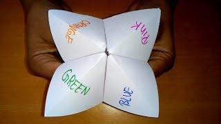 Origami Fortune Teller | Paper Fortune Teller | How To Make a Paper Fortune Teller