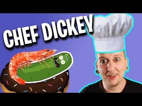 Dining With Dickey- Shrimp Donut Sandwhich!