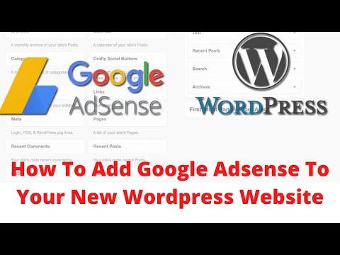 How to Add google adsense to new wordpress website
