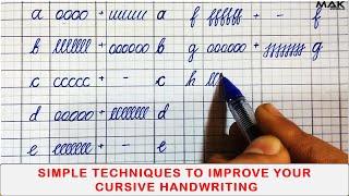 cursive handwriting practice for beginners| How to have good handwriting| cursive handwriting a to z